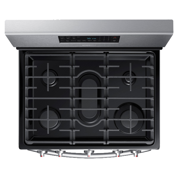 Samsung NX58H5600SS Convection Freestanding Gas Range Burners