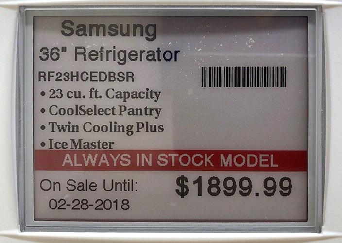 Samsung RF23 Refrigerator Price Tag-1