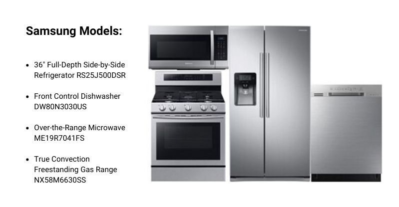 Samsung Side By-Side Appliance Package