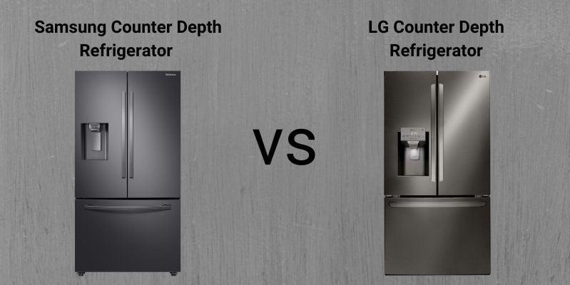 Samsung Vs. LG Black Stainless Steel Counter Depth Refrigerators