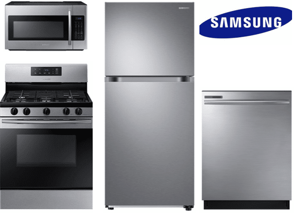 Samsung Top Mount Refrigerator Package With Gas Range