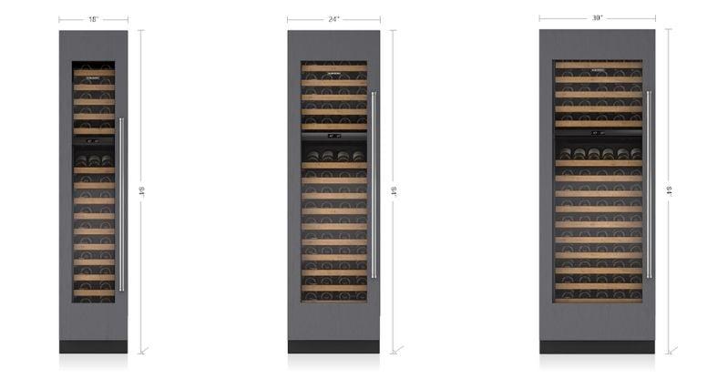 Sub-Zero Wine Storage Size Columns