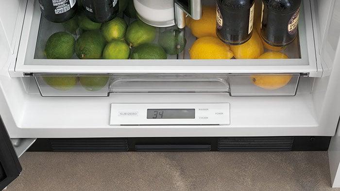Sub-Zero-built-in-compact-refrigerator-temperature-controls