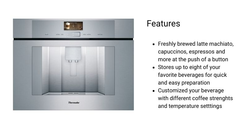Thermador Built-In Coffee Machine