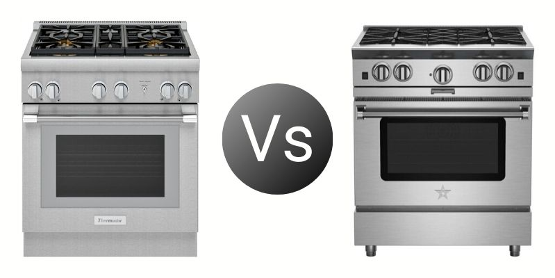 Thermador Vs BlueStar 30-Inch Professional Ranges