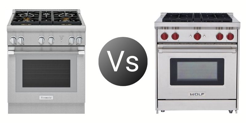 Thermador Vs. Wolf 30-Inch Professional Ranges