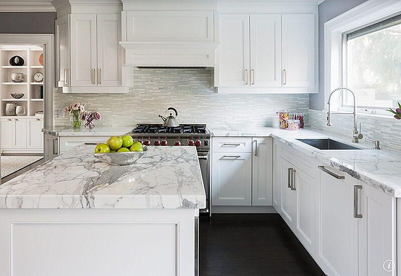 White and grey kitchen-1