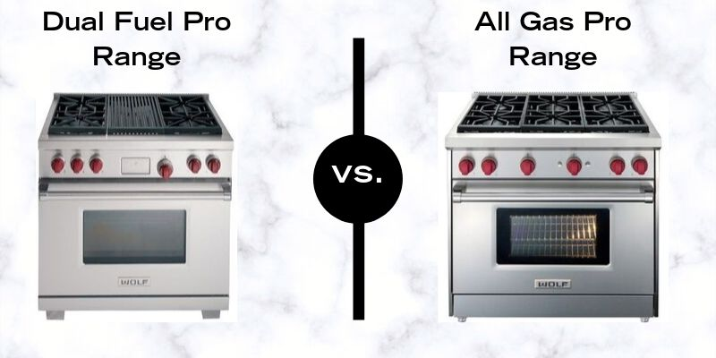 Wolf Pro Ranges - Duel Fuel Vs. All Gas