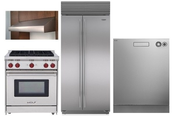This Package Combines The Wolf Pro Range With Internal, Infrared Broiler  And A Commercial Style Sub Zero Refrigerator And Quiet Asko Dishwasher.