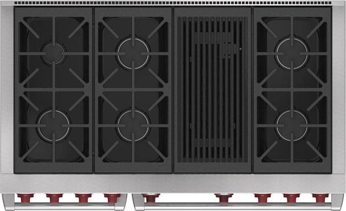 Wolf-Pro-Dual-Fuel-Range-DF48650CSP-Stovetop