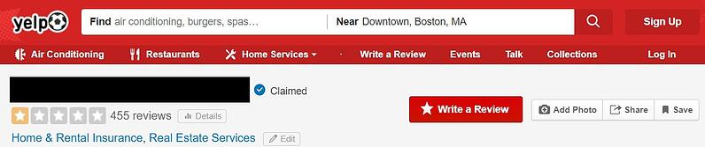 Yelp Reviews - Home Warranty