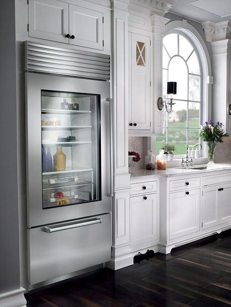 Bi-36 Professional Sub-Zero Refrigerator with Glass Door in Live Kitchen.jpg