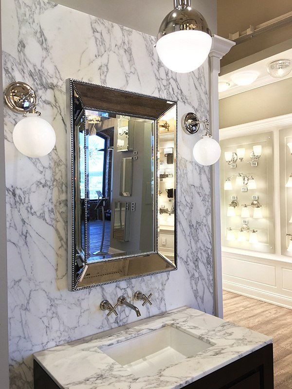 Boston Display - Lighting a Small Bathroom