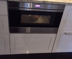 Microwave Drawer in home, heating oatmeal