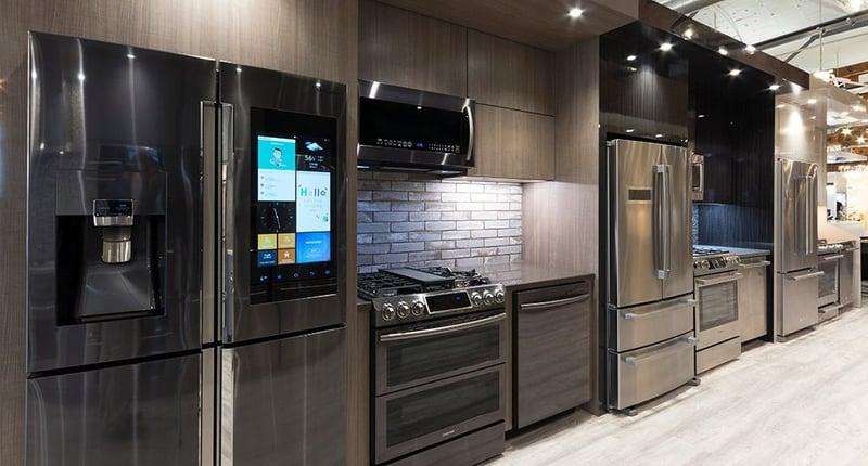 Samsung Black Stainless Steel kitchen, Framingham Showroom