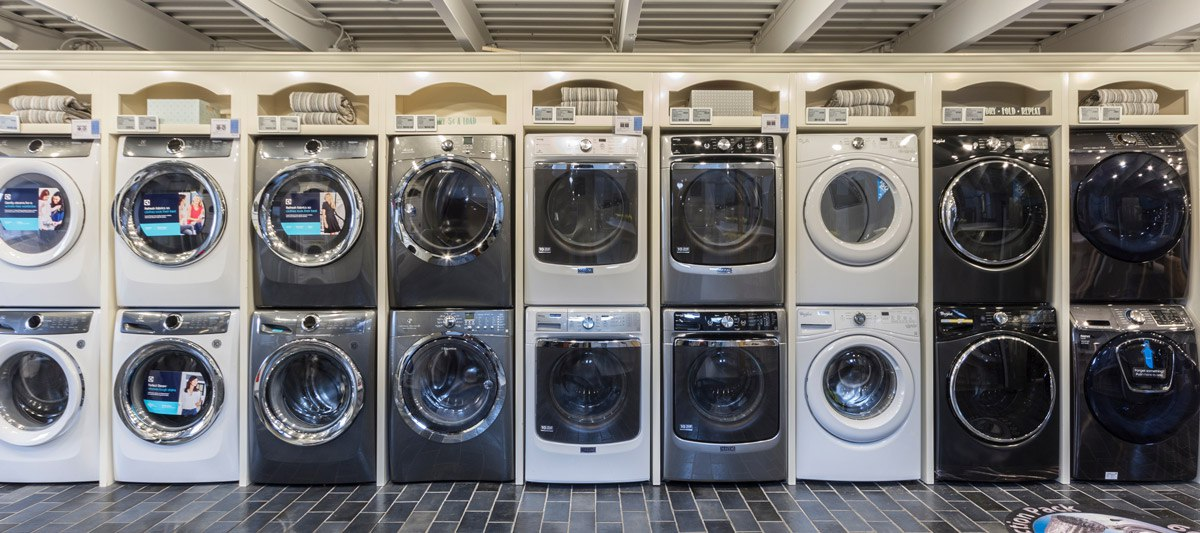yale appliance laundry display