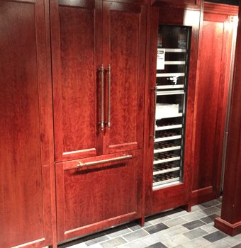 Captivating Integrated Counter Depth Refrigerator Display
