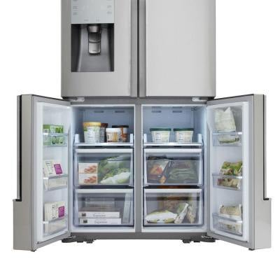 samsung four door refrigerator open