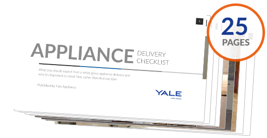 appliance delivery checklist