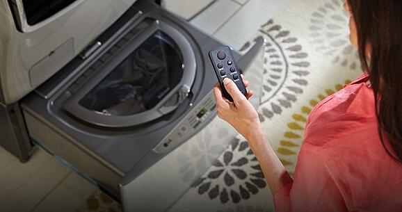 LG Sidekick Pedestal Washer magnetic remote