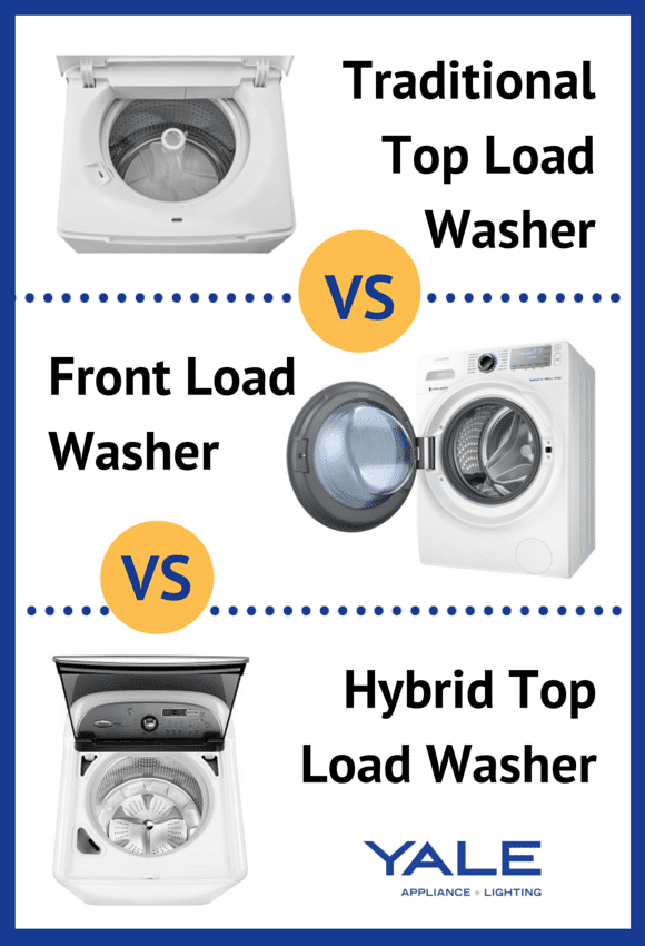 Top load washer vs. front load washer vs. hybrid washer