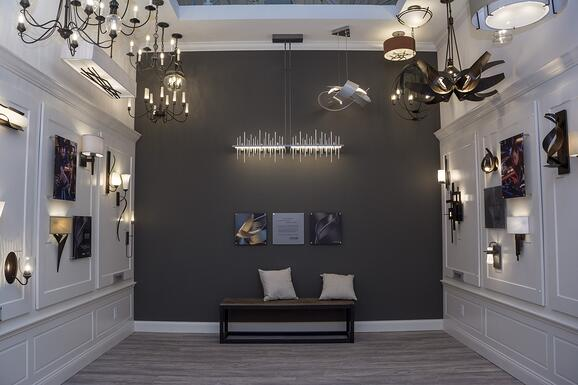 Hubbardton Forge display at Yale Framingham