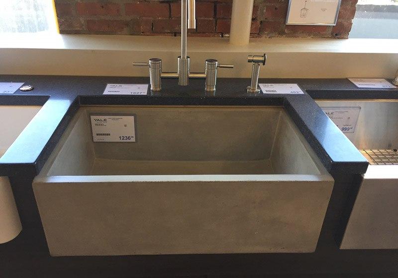 Beautiful Concrete Farm Sink Display Yale Appliance