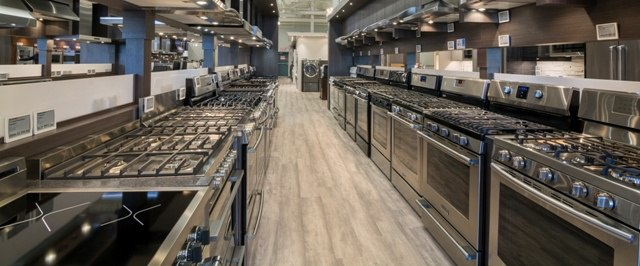 yale appliance gas ranges display