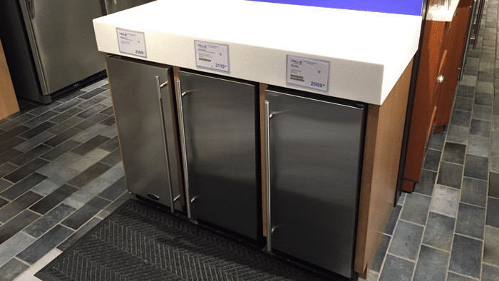 ice maker display at yale appliance 2015