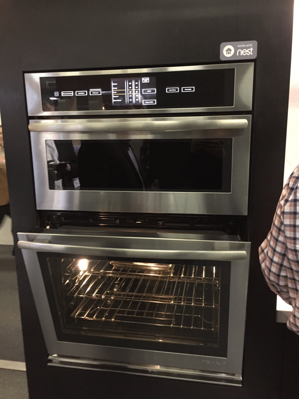 jenn air wall oven with Nest at architectural digest home design show