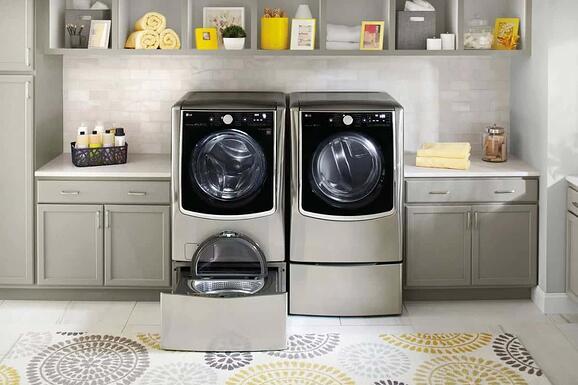 LG twin wash pair with pedastal washer