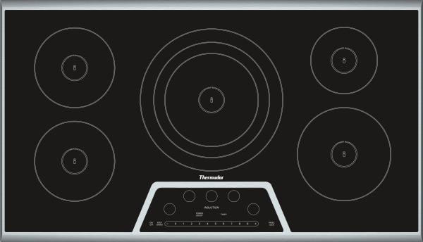 thermador cit365kb powerful induction cooktop