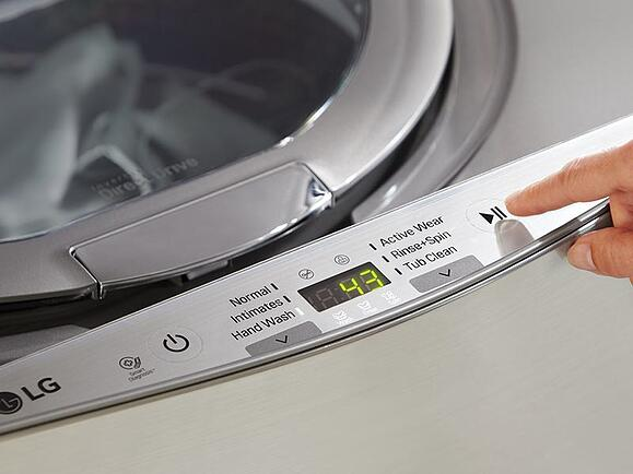 LG Sidekick Pedestal Washer controls