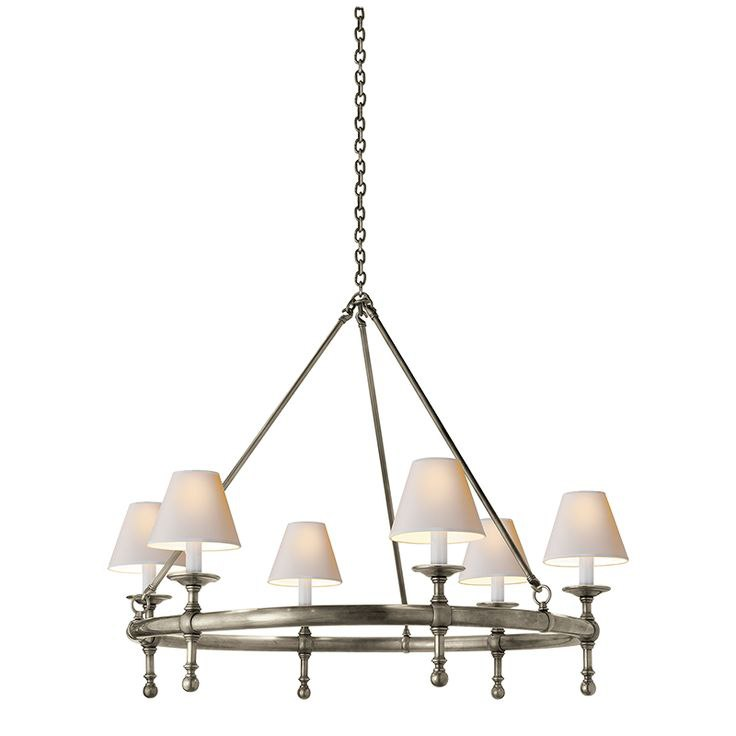 Visual Comfort Classic Ring Chandelier best colonial lighting