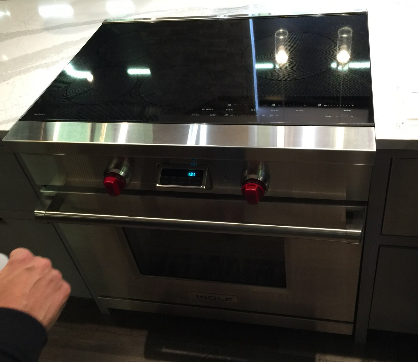 wolf induction range at architectural digest home design show