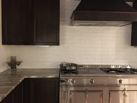 Our La Cornue Kitchen Display With No Under Cabinet Lighting