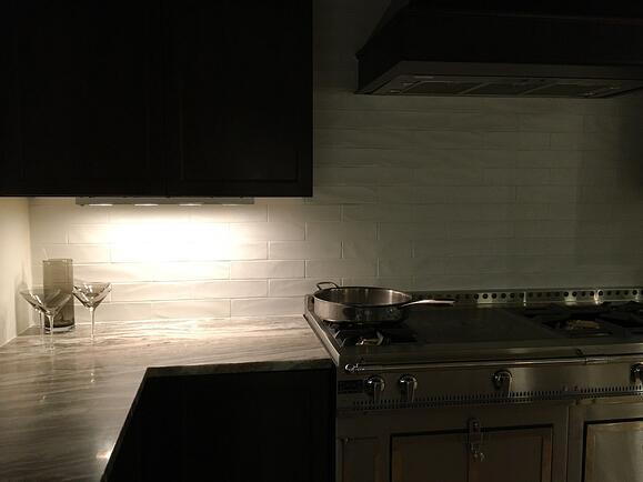 La Cornue Kitchen With Xenon Under Cabinet Lighting