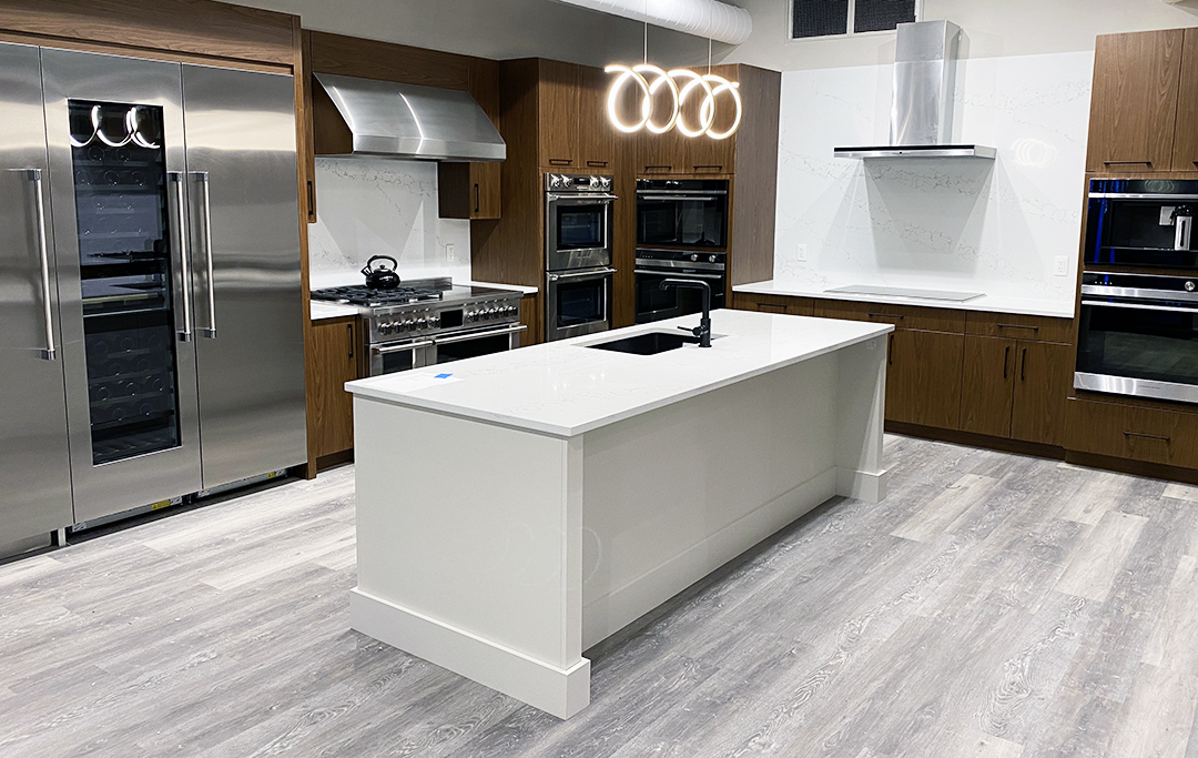 kitchen at yale appliance in hanover including fisher & paykel appliances