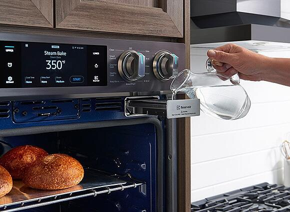 samsung wall oven steam cooking