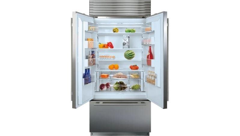 sub-zero refrigerator interior