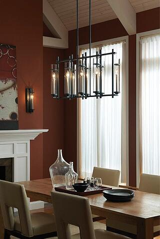 "Feiss ""Ethan Collection"" Chandelier craftsman lighting"