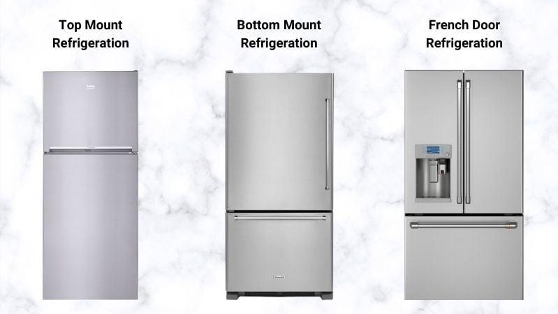 types-of-refrigerators