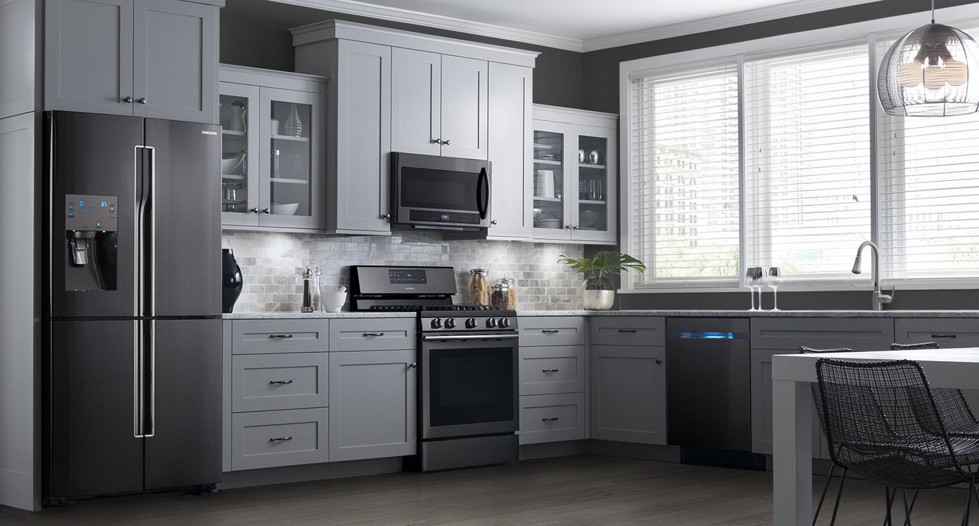 Uncategorized White Kitchens With Stainless Steel Appliances kitchenaid vs samsung black stainless steel appliances reviews ratings prices