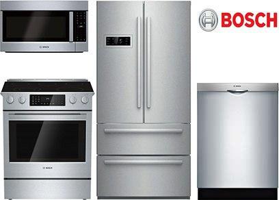 bosch slidein range kitchen package