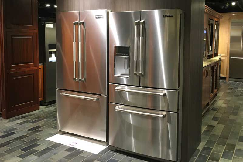 White Galley Kitchen With Whirlpool Smudge Proof Stainless Steel Appliances