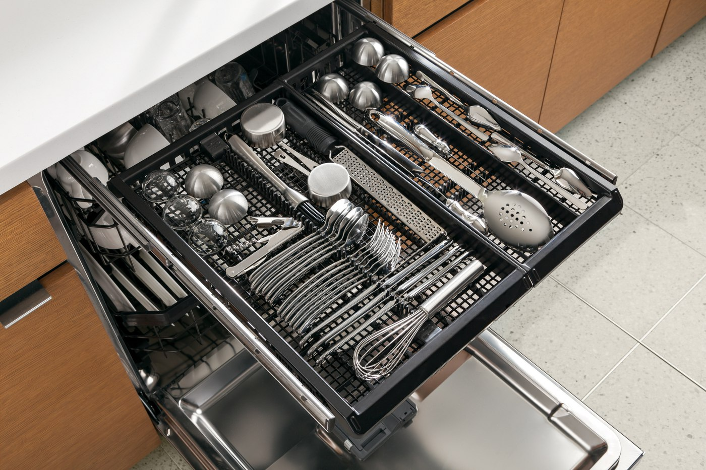 kitchenaid dishwasher third cutlery rack
