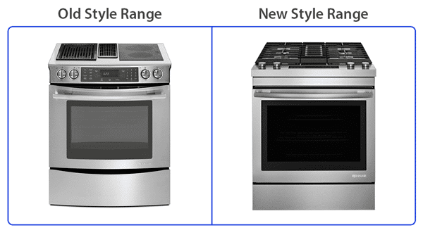 jennair downdraft range old vs new style - Downdraft Range