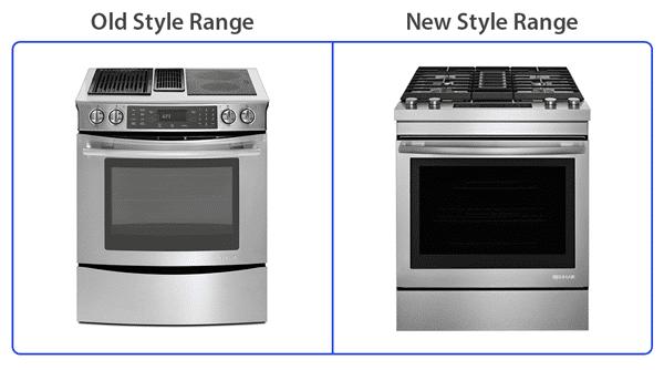 jennair downdraft range old vs new style