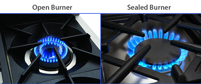 open-burner-vs-sealed-burner