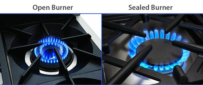open-burner-vs-sealed-burner